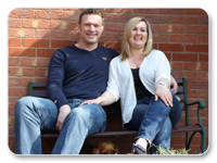 Image of Matt and Jane, both of whom are Telford foster carers